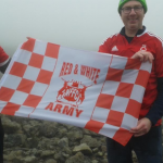 Fr Joe reaches the top of Ben Nevis – one down two to go!
