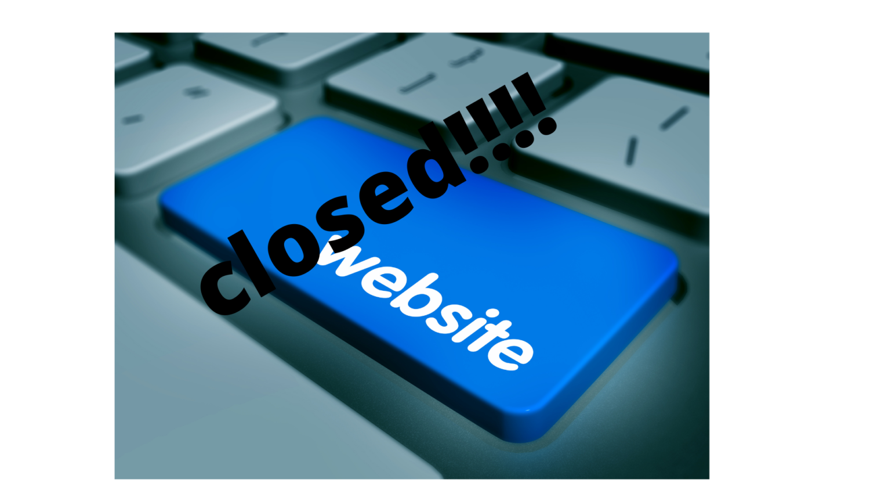 website now closed